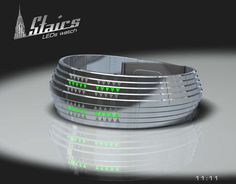 Elliptical Timekeeper Designs - The Stairs LED Watch Tells Time Using Colorful Triangles (GALLERY)