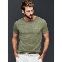 d220bae75f5 Gap Men Garment Dyed Slub T Shirt ( 25) ❤ liked on Polyvore featuring men s