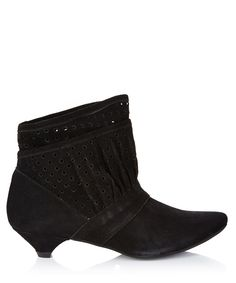 Kitten Heel Boots Black
