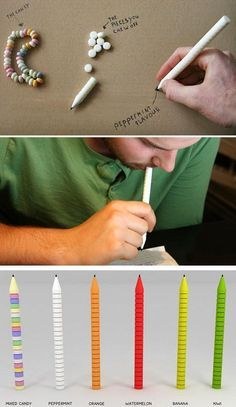 Edible candy pen! now there's an idea!