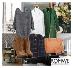 """""""Romwe: Black Knit Sweater..."""" by dayday1andonly ❤ liked on Polyvore featuring WallPops and romwe"""