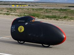 Cal Poly students spent 9 months building Gemini, their latest human-powered vehicle. The two-wheel carbon-fiber-frame bike took first place in design, and second place overall, at this year's ASME Human Powered Vehicle Challenge in Utah.  http://www.popularmechanics.com/technology/engineering/gonzo/9-unusual-human-powered-contraptions-9#slide-3