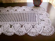 Thread Crochet Doily Rectangular Runner, June doily, handmade, gift, anniversary, married, shower #gift#