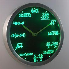 Math Class Algebra LED Wall Clock