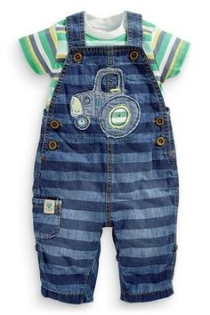 Bottoms Brilliant Next Baby Boy Blue Denim Dungarees Baby & Toddler Clothing 12-18 Months
