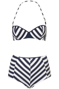 High waisted swimwear. Perfect for hiding stretch marks and c-section scar. ;)