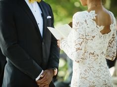 Thinking Of Writing Your Own Ceremony Vows? Read This First. | Photo by: Justin & Mary | TheKnot.com