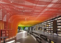 Gallery of How Color Affects Architecture - Metal Rainbow-Zhongshu Bookstore in Suzhou / Wutopia Lab. Suzhou, Estilo Interior, Best Interior, Interior And Exterior, Commercial Interior Design, Commercial Interiors, Interior Design Magazine, Design Studio, Reading Room