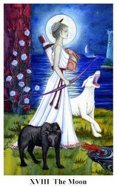 The Moon art - Arto Tarot Tarot Cards Major Arcana, The Art Of Listening, The Moon Tarot Card, Le Tarot, Online Tarot, Tarot Card Meanings, Tarot Spreads, Moon Art, Tarot Decks
