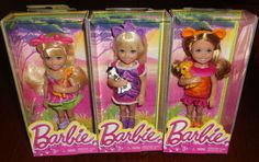 Barbie Safari Chelsea Doll Lot with Zebra  Lion and Giraffe NEW! #DollswithClothingAccessories