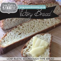 Low Carb is Lekker Victory Bread Sourdough Type Lchf Bread Low Carb Is Lekker Low Carb Sourdough Bread Recipe, Lowest Carb Bread Recipe, Low Carb Bread, Keto Bread, Banting Bread, Diabetic Bread, Healthy Snacks For Diabetics, Savory Snacks, Healthy Cooking