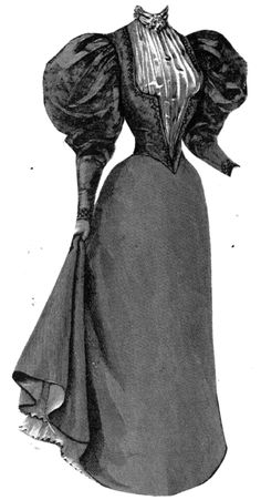 1895 spring gown