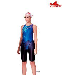 3158c60ca19 Yingfa 615-1 Blue Technical Race-skin Swimsuits - $69.99 Racing Swimsuits,  Ladies