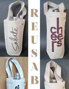 Ideas for diy fashion bags design Sac Lunch, Wine Tote, Bottle Bag, Wine Bottle Crafts, Wine Gifts, Gift Bags, Fashion Bags, Silhouettes, Cricut