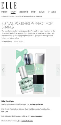 Elle.com Perfect Polishes for Spring: treat yourself to the first mani-pedi of the season with Dermelect 'ME' in Au Courant from the NEW Revival Collection!