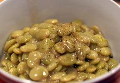 Southern Girl Butter Beans - Most delicious butter beans ever... used no meat, added liquid smoke instead
