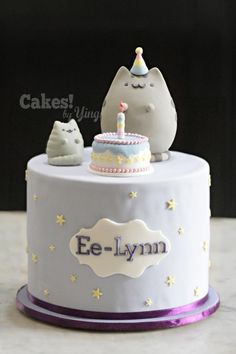 I learnt something new this week – the FB sensation that is Pusheen (I'd the FB stickers but had no idea the cute kitty had a name… and following). Birthday girl's request was for Pusheen and Stormy, so hope I've done them justice. Cake inside is...
