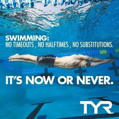 In swimming theres No Timeouts, No Halftimes,No Substitutions.And people still think swimming is a `wimp sport` or not a sport at all.#swimmerforlife