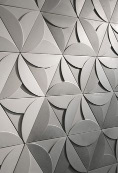 Concrete tiles - Triangle tiles Three-dimensional space