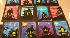 Spooky House Halloween Art Lesson - Art Teacher in LA