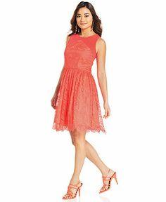 Jessica Simpson Sleeveless Cutout Lace Dress - Dresses - Women - Macy's. Do you like, Amy?