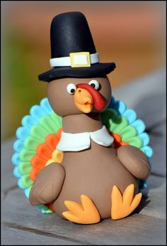 SugarEd Productions Online Classes tutorial: Thanksgiving Pilgrim Turkey SugarEd Productions Source by jbhireable Fondant Toppers, Fondant Cakes, Cupcake Cakes, Cupcakes, Biscuit, Turkey Cake, Chocolate Hazelnut Cake, Foundant, Thanksgiving Cakes