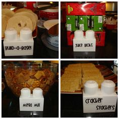 I love the idea of putting the food labels on the side of blocks.