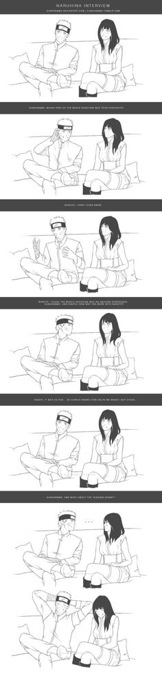 Behind the scene 3 - NaruHina interview - lineart by eunsangmo on DeviantArt