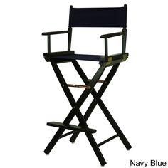 Black Frame 30-inch Director's Chair (30 inch, black frame, navy blue canvas)