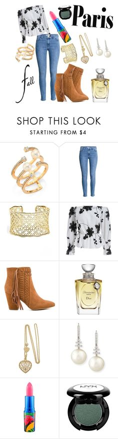 """""""Paris in Fall"""" by pandabearlover7 ❤ liked on Polyvore featuring Hueb, Kendra Scott, Rebecca Minkoff, Christian Dior, Belpearl, MAC Cosmetics and NYX"""