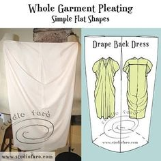 well-suited: Garment Pleating - Homage to Issey Miyake Easy Sewing Patterns, Knit Patterns, Vintage Patterns, Dress Patterns, Fashion Days, Diy Fashion, Pattern Making, Pattern Cutting, Dress Backs