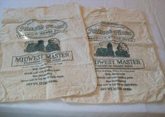 Vintage Seed Bag, Vintage Grass Seed Bags, Natures Finest, Midwest Masters, Cloth Seed Bag by VintagePlusCrafts on Etsy