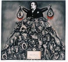 """Cruel: Bearing Witness to Animal Exploitation"" by Sue Coe art Sue Coe, Animal Rights Movement, Animal Agriculture, English Artists, Vegan Animals, Animal Quotes, Animal Tattoos, Going Vegan, Beautiful Creatures"
