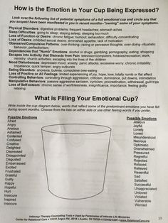 What is filling your emotional cup? by lacy