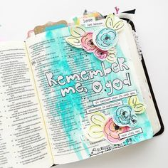 """Bailey Jean on Instagram: """"Taking a thesis writing break (because Word is being a trouble maker ) to share a page I painted last night in the company of a sweet friend. We talked about life and Bible journaling techniques, but mostly about Jesus. My heart is still so full!  #illustratedfaith #journalingbible #illustratedfaithdaily2016 #bjrjournals #dayspring #bellablvd #lampandlight #saturatedinscripture"""""""
