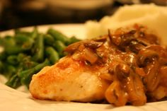Chicken Breasts with Mushroom Sage Sauce More