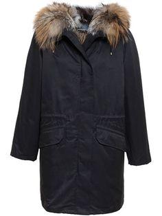 Army Yves Salomon Fox Fur Lined Cotton Parka
