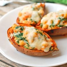 Healthy Sweet Potato Skins... we did take the blogger advice and add a little crumbled bacon on the top ... OUTSTANDING... a keeper recipe!