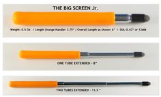 Stylus the Big Screen Jr. and telescoping styluses (?) styli (?)