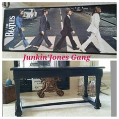 Beatles Piano Bench.  Painted with Miss Lillian's No-Wax Chock Paint Onyx.
