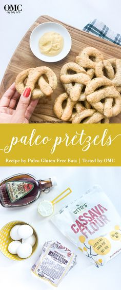 Paleo Pretzels that actually taste and feel pretty darn close to the real deal. With an added Butter Garlic and Parsley topping, these are easy to make and delicious!