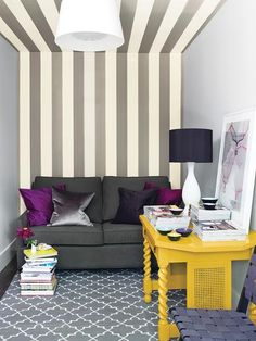 From floor to ceiling stripes