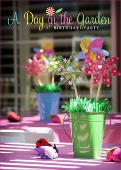 Summer is almost here, so it's the perfect time to share this sweet garden party! For her daughter Maddie's first birthday, crafty mama Dana came up with loads of clever ideas for an outdoor party that could apply to any theme, and would make guests ...