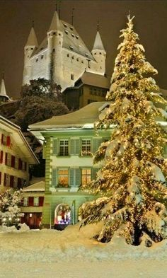 Christmas in Thun, Switzerland.  Thun in the canton of Bern in Switzerland has  about 43'783 inhabitants