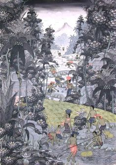 bali traditional painting – Harvest Time