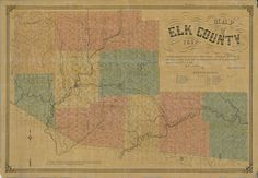 "Elk County Pennsylvania 1855 - Wall Map with Homeowner Names - Genealogy - Reprint. Find your house 150 years ago! This Pennsylvania county wall map shows all the old roads, homeowner and business names in the 1850's and 1860's. Great for genealogists and history lovers. We offer this map in various sizes. (Original size: 28"" x 40"") Homeowner names are legible on the larger prints, but will be hard to read or illegible on the smaller prints. The small prints still make an attractive wall..."