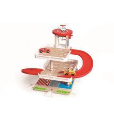 Garaż z windą i zjeżdżalnią to wspaniała zabawa dla małych miłośników motoryzacji. Zabierz autko wraz z akcesoriami na przejażdżkę. Zobacz jak pokonuje zakręty! Garage, Parking, Artisanal, Baby Toys, Games, Tableware, Autos, Educational Toys, Building Toys