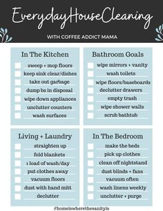 Clean House Schedule, House Cleaning Checklist, Weekly Cleaning, Household Cleaning Tips, Cleaning Hacks, Cleaning Routines, Cleaning Schedules, Deep Cleaning, Cleaning Lists
