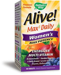 Natures Way Alive Premium Formula Max3 Daily Womens MultiVitamin 90 Tablets -- You can find more details by visiting the image link. (This is an affiliate link and I receive a commission for the sales)