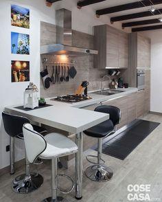 cucina con penisola e cappa angolare sfera - diotti a&f ... - Soluzioni Cucina